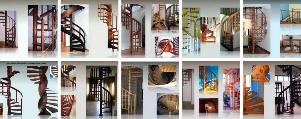 Izrada spiralnih stepenica- Enterijer Sremska Kamenica